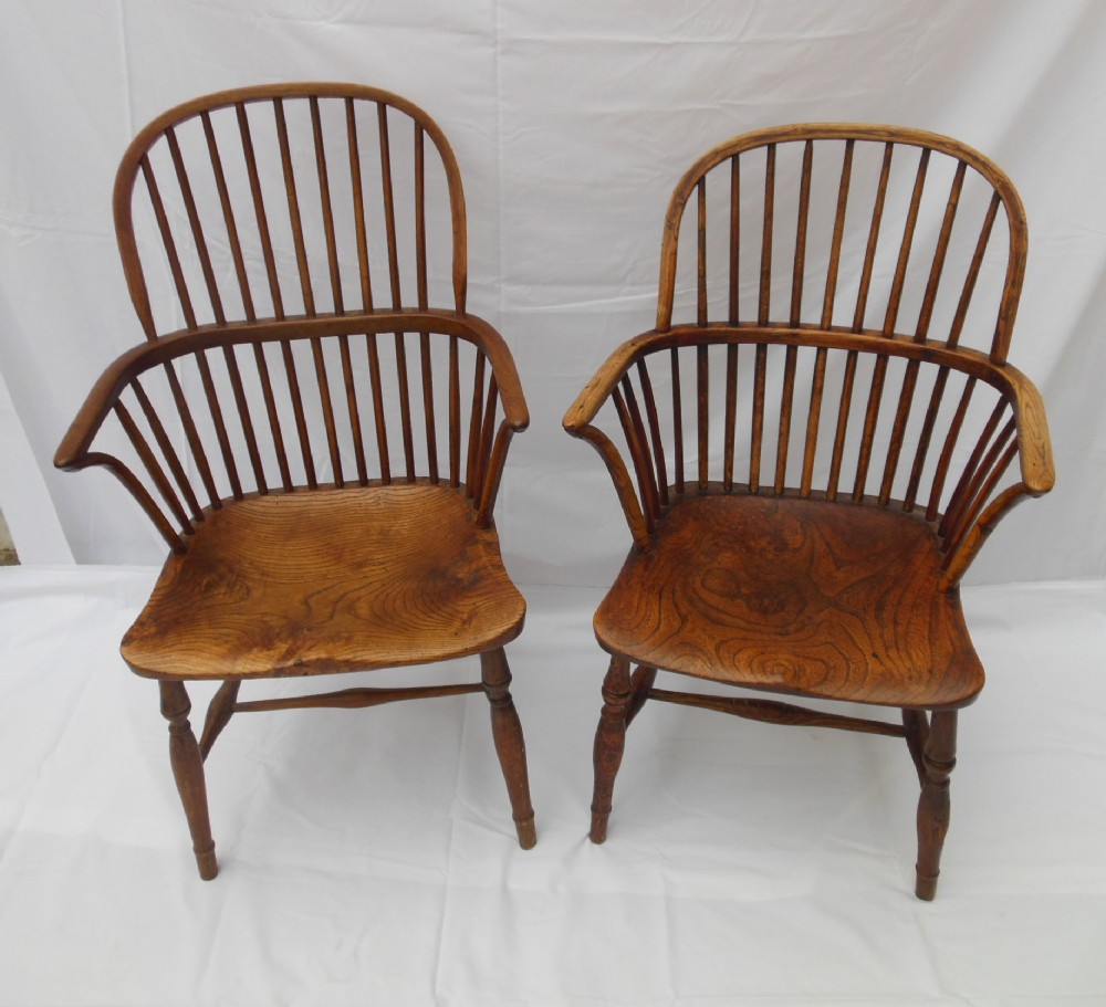 A Pair 19th Century Windsor Chairs