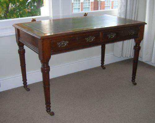 mid victorian mahogany writing table