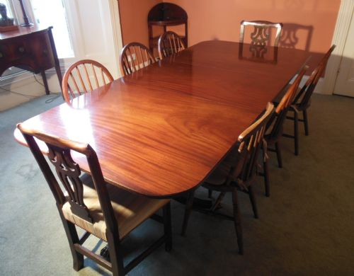 Twin pedestal mahogany dining table 12 seater photo angle 4 for 12 seater dining table uk