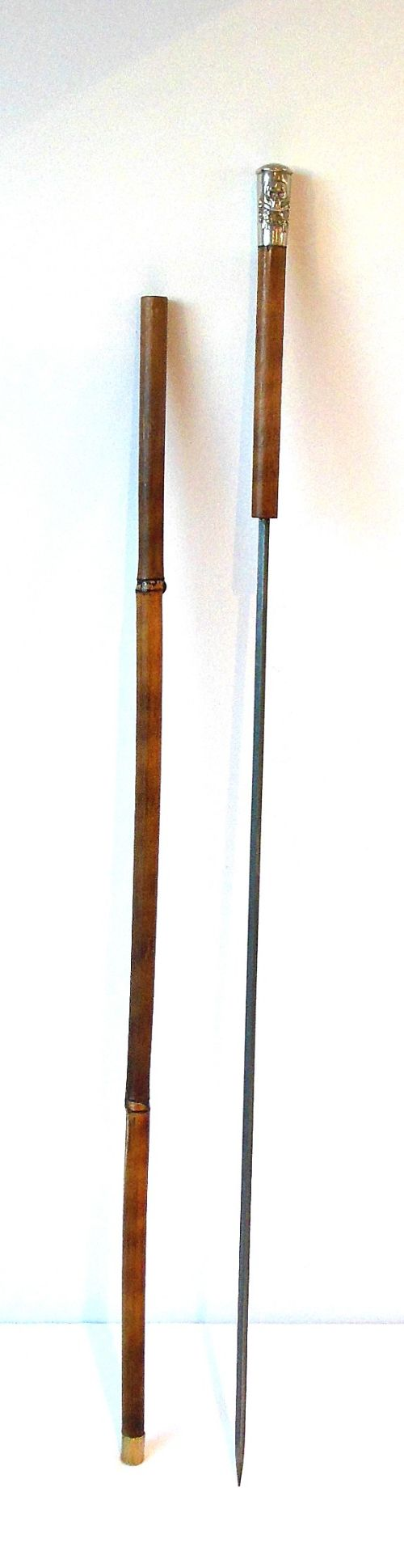 Bamboo sword stick or cane royal lancers