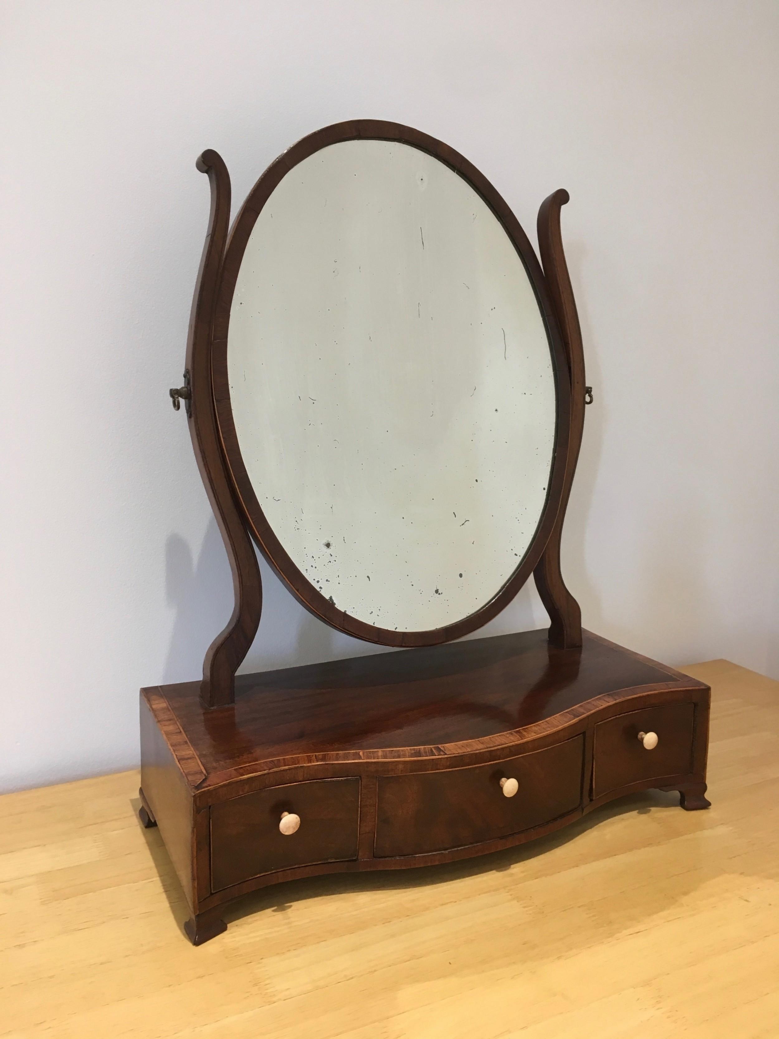 georgian mahogany toilet mirror