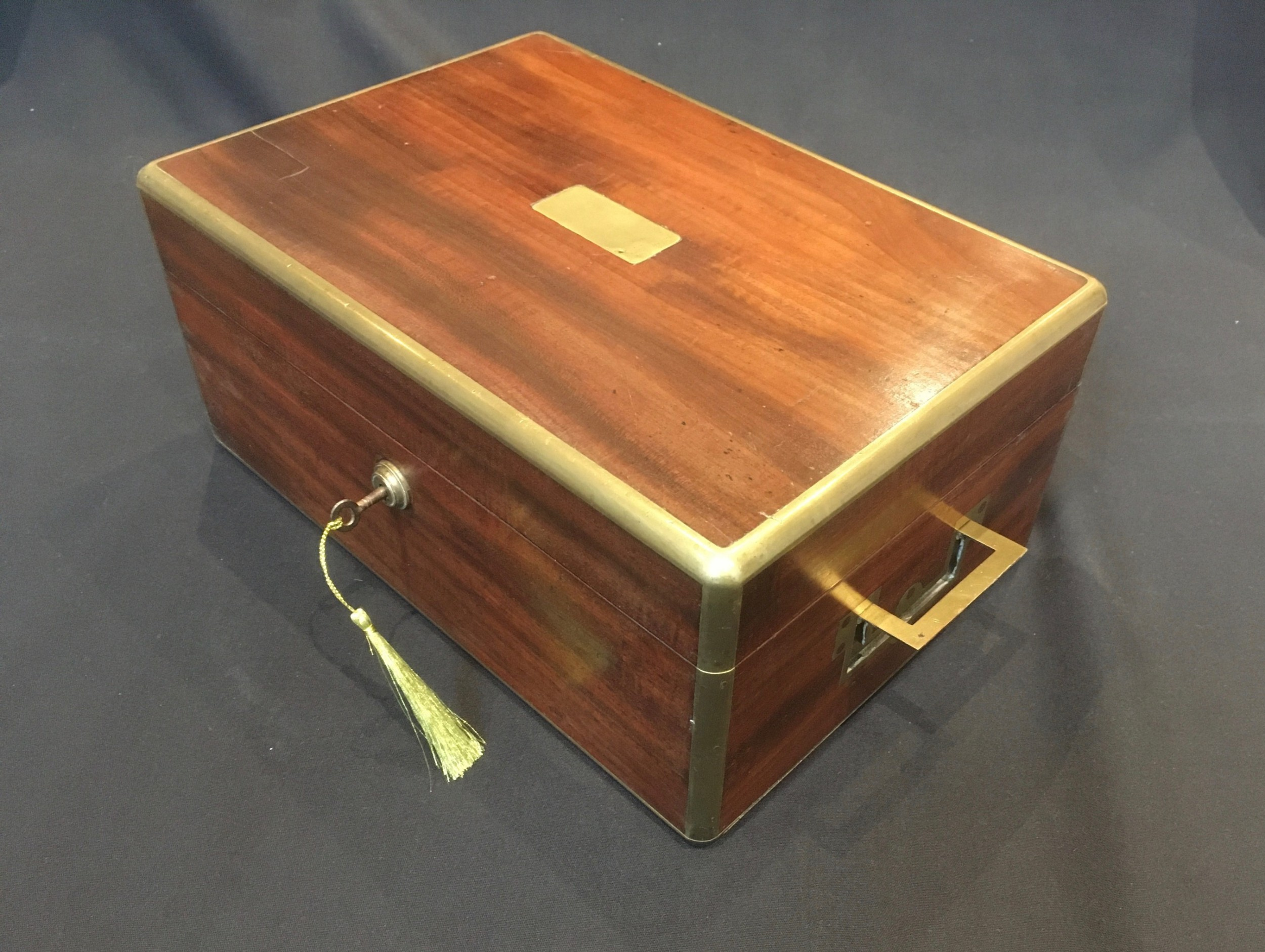 mahogany brass bound box