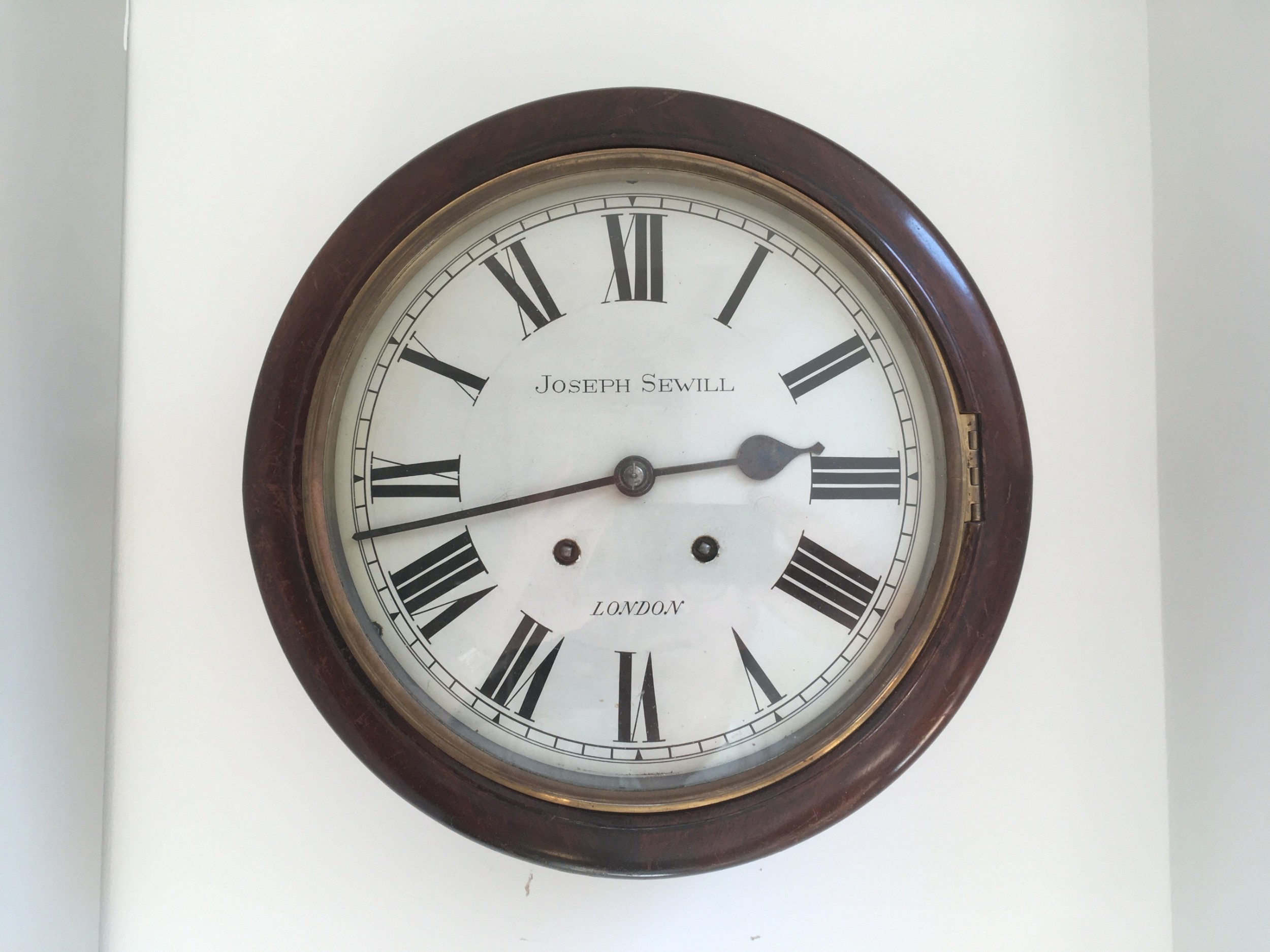 mahogany 10 dial striking wall clock