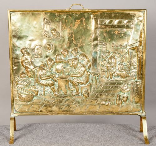 Edwardian Brass Fire Screen | 155564 | Sellingantiques.co.uk