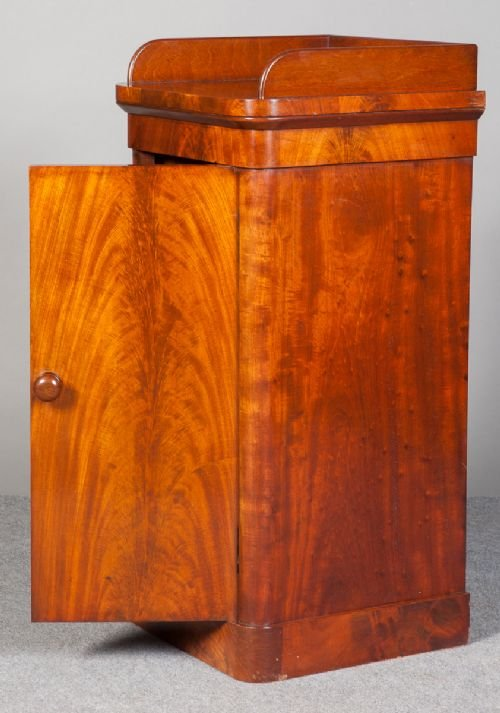 small victorian mahogany cupboard - photo angle #2