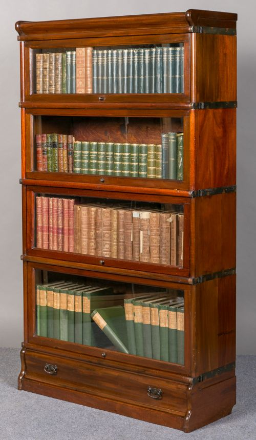 Complete Full Bookcase Daybed With Storage Benchmark Full: Mahogany Globe Wernicke Bookcase
