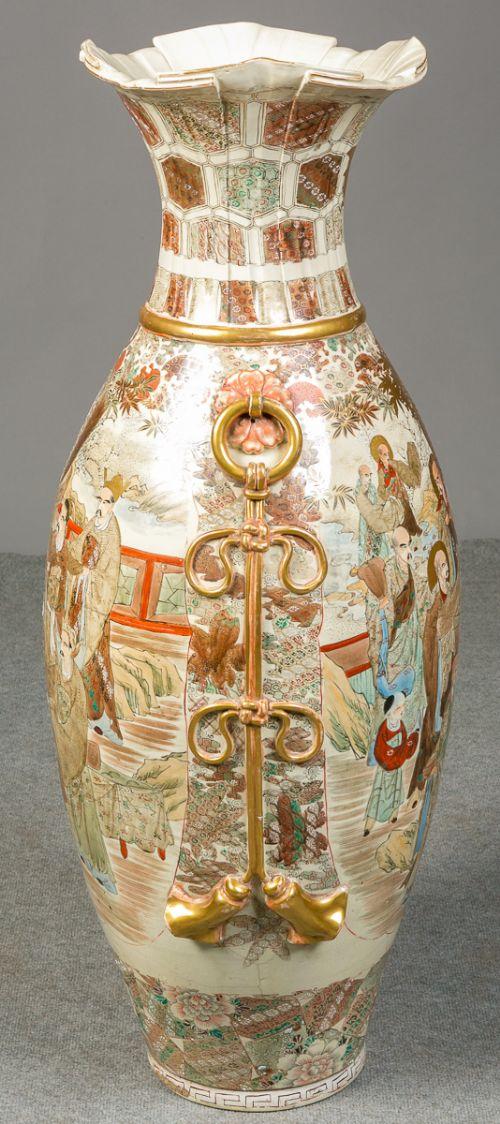 Very Large Satsuma Vase 326505 Sellingantiques