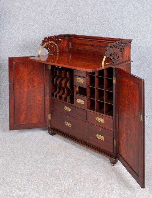 unusual antique estate cabinet