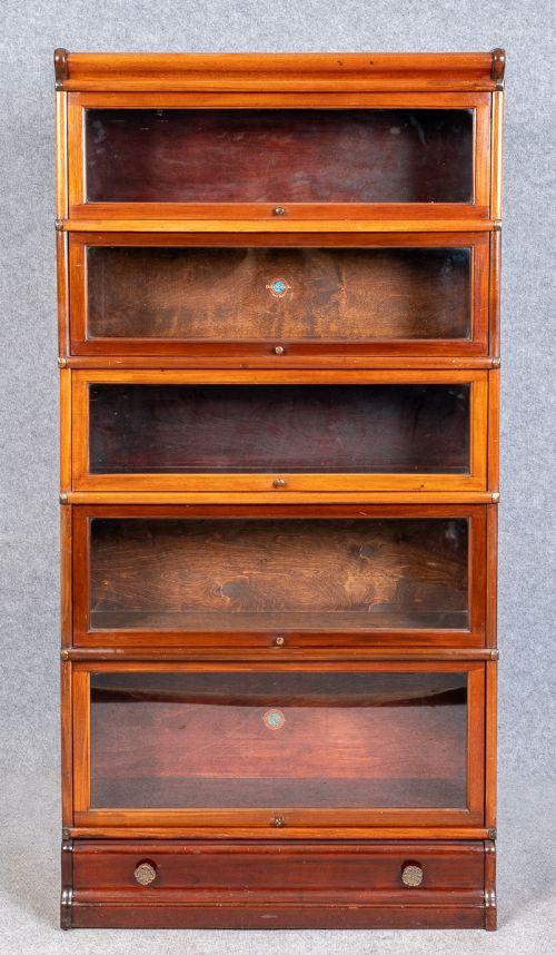 mahogany globe wernicke stacking bookcase