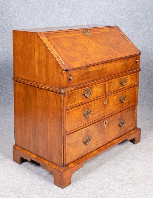 early 18thcentury walnut bureau