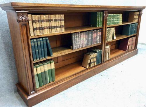 good quality william iv mahogany open bookcase