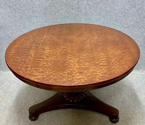 good quality plum pudding mahogany breakfast table