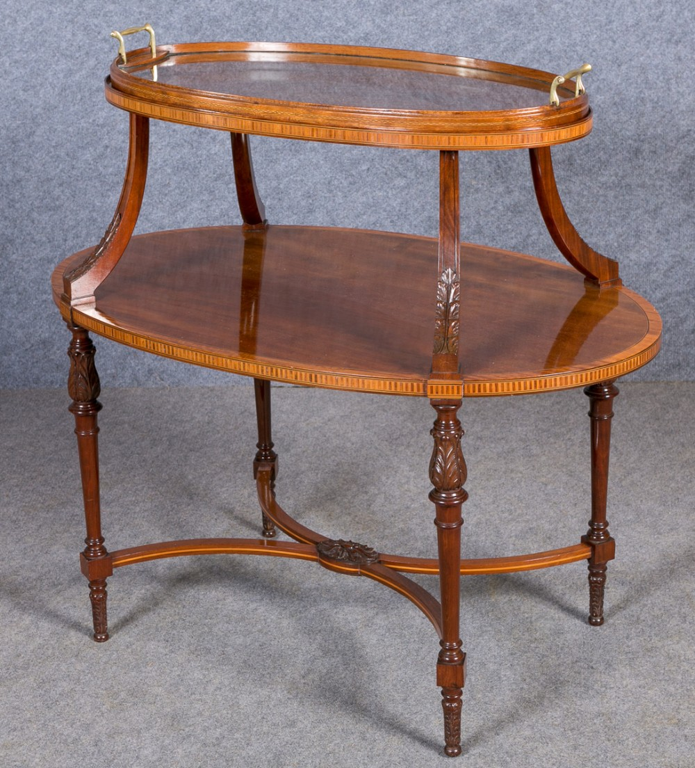 edwardian tray top occasional table