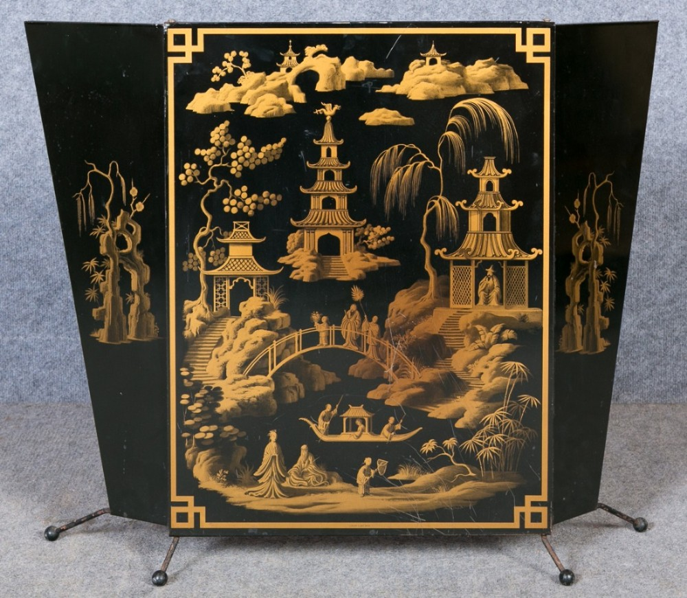 Art Deco Chinoiserie Fire Screen 414330