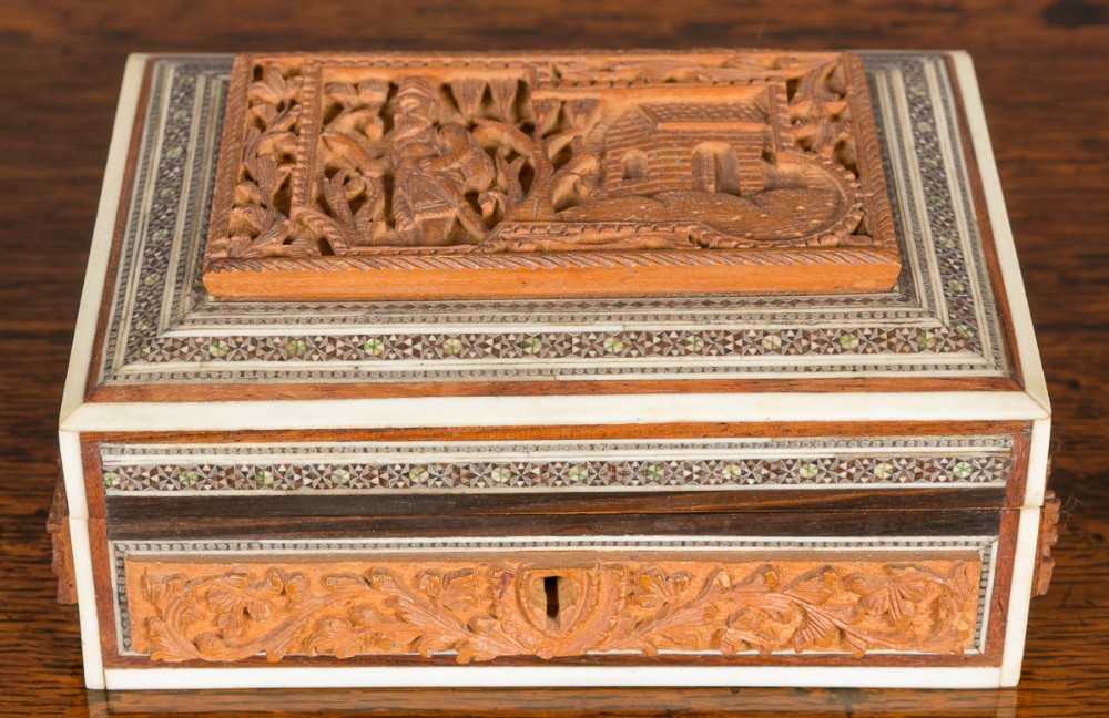 sadeli work anglo indian box