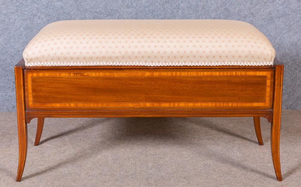 edwardian mahogany window seat