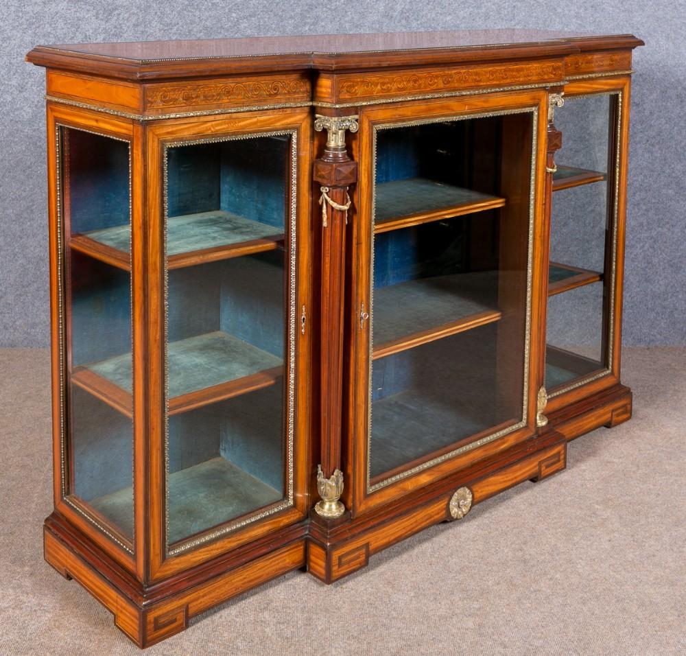 fine satinwood credenza side cabinet