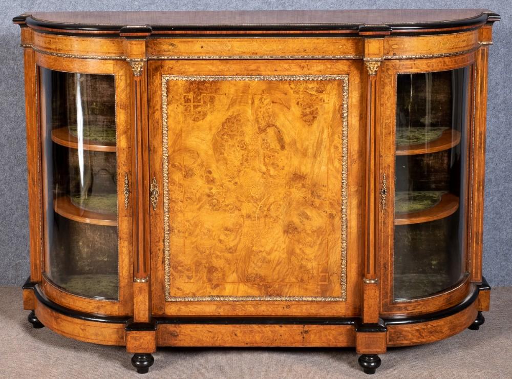 victorian walnut credenza side cabinet