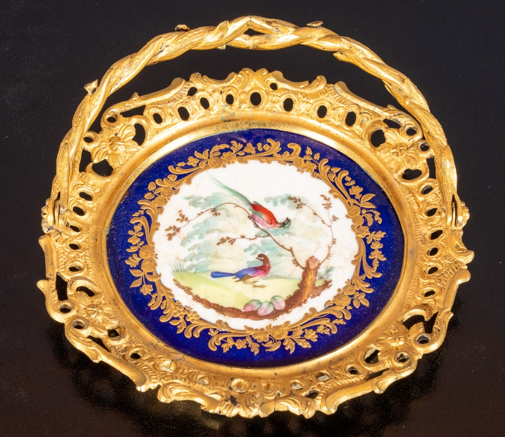 derby porcelain ormolu mounted dish