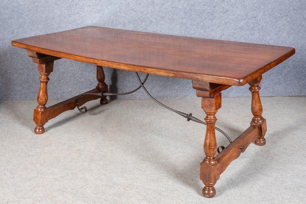 spanish style refectory dining table