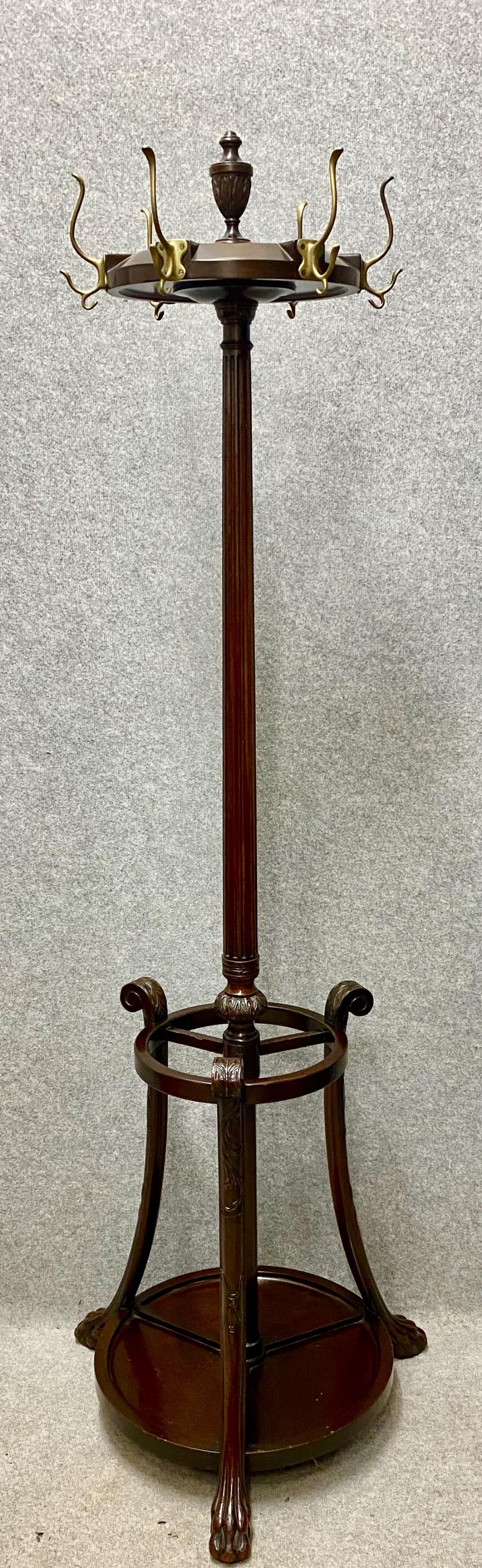 good regency style mahogany hallstand