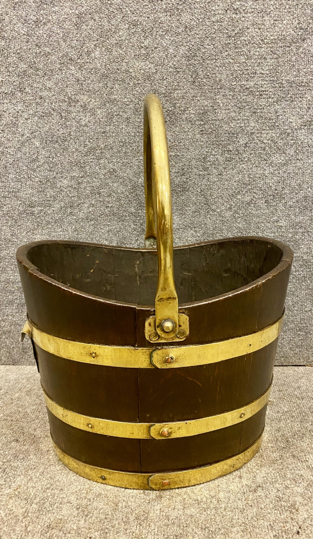 19thcentiury brass bound bucket