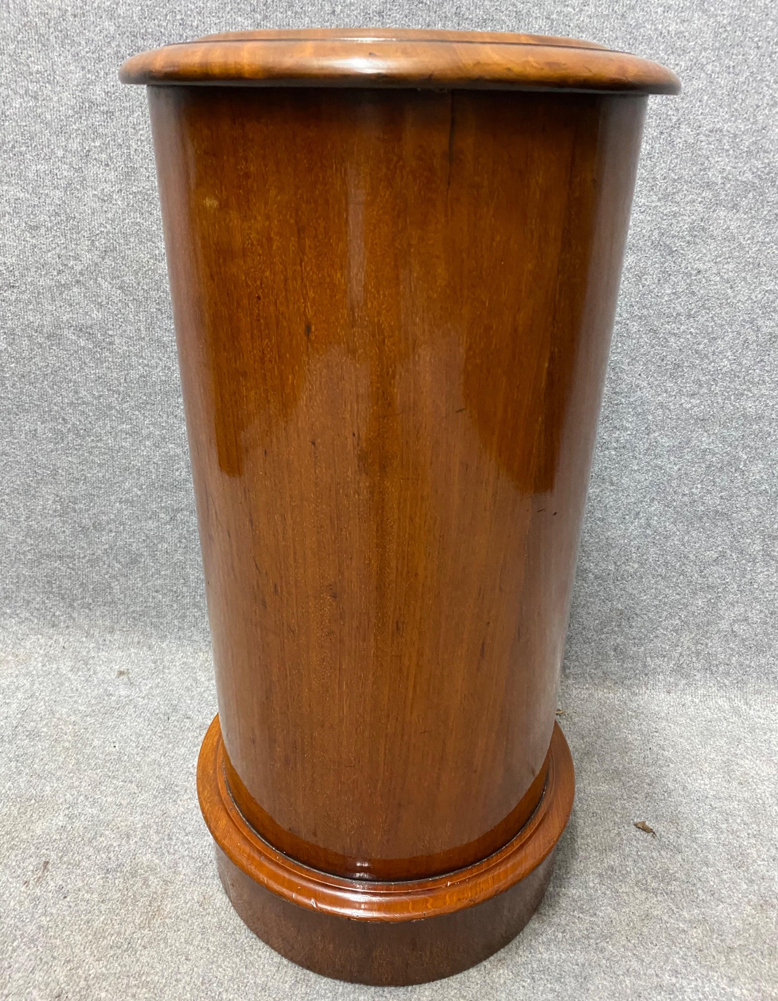 victorian mahogany cylinder pot cupboard