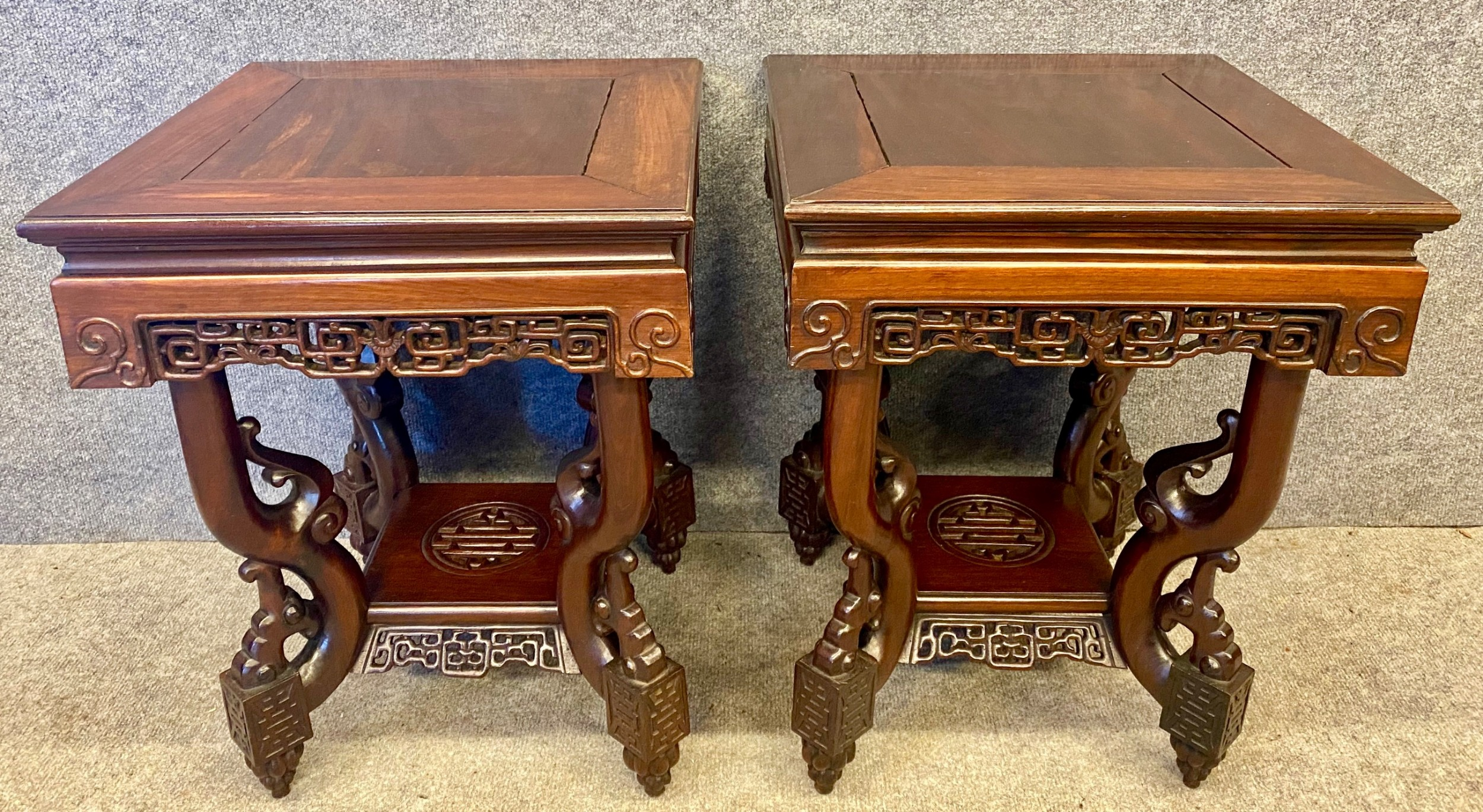 good pair of chinese lamp tables