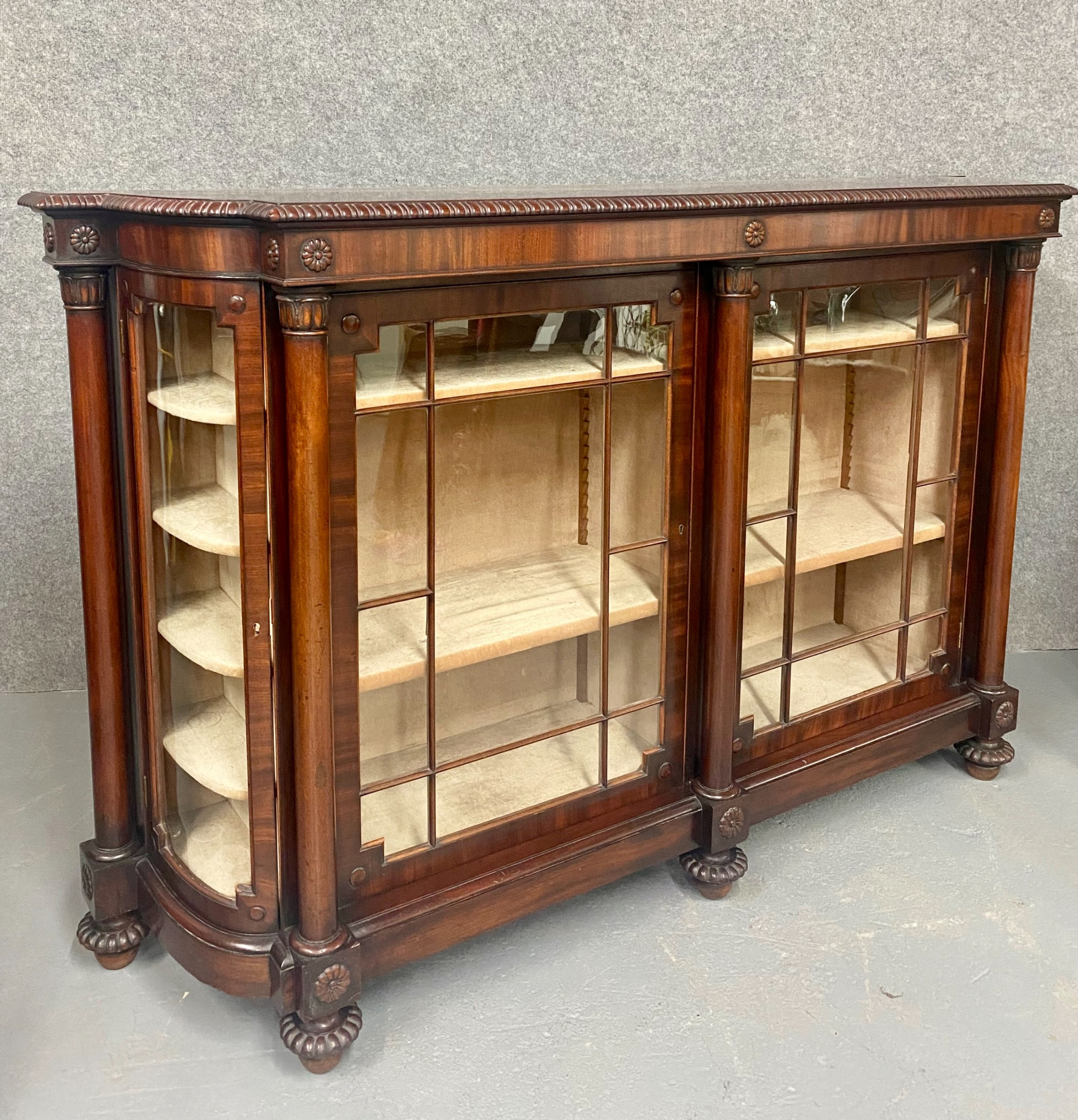 superb gillows quality mahogany side cabinet