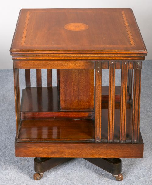 Small edwardian revolving bookcase 349962 for Revolving end table