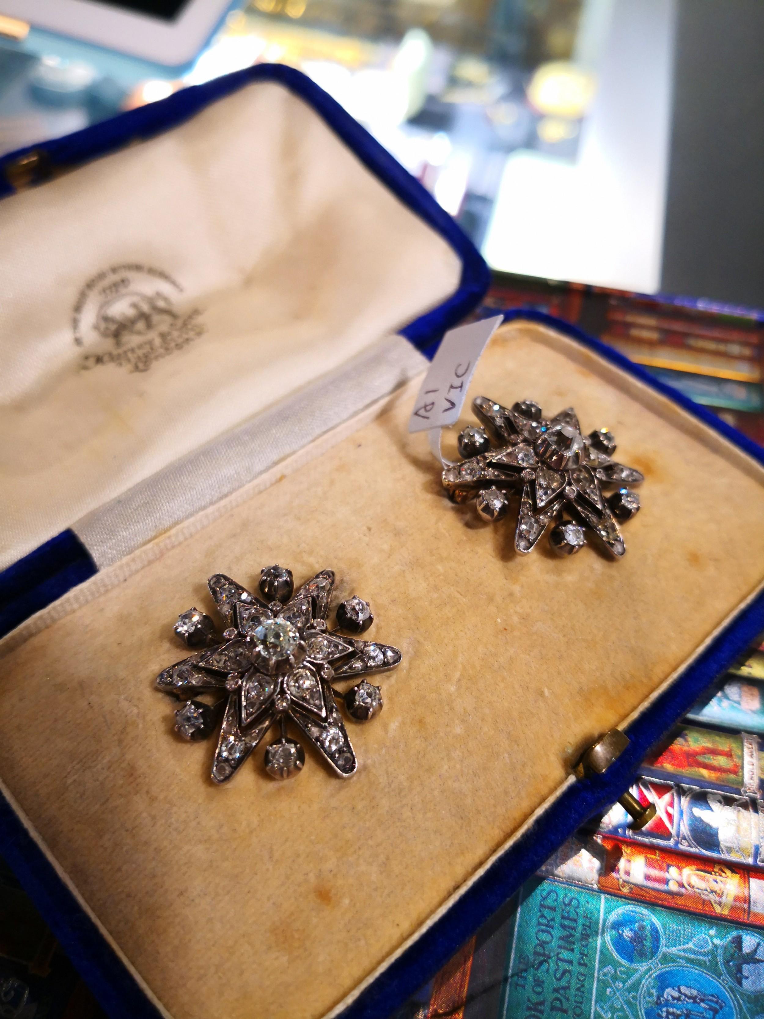 victorian diamond star brooches