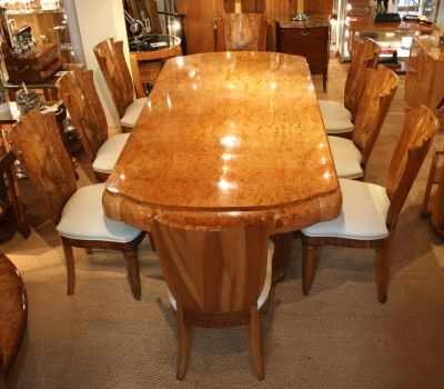 art deco dining table and chairs 177194. Black Bedroom Furniture Sets. Home Design Ideas