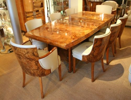 Art Deco Dining Table And Chairs 193837  : art deco dining table and chairs 193837 from www.sellingantiques.co.uk size 500 x 382 jpeg 40kB