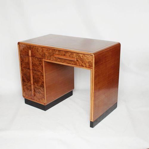desk walnut in deco art small atlas antique antiques