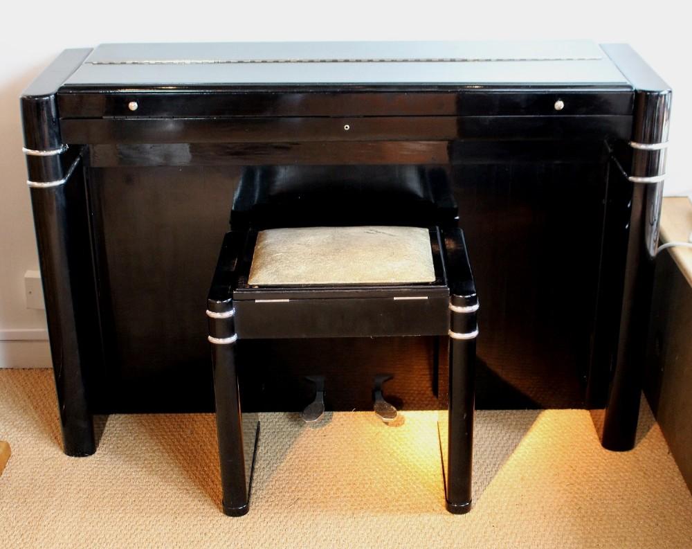 Art deco piano and stool 285894 for Piani art deco