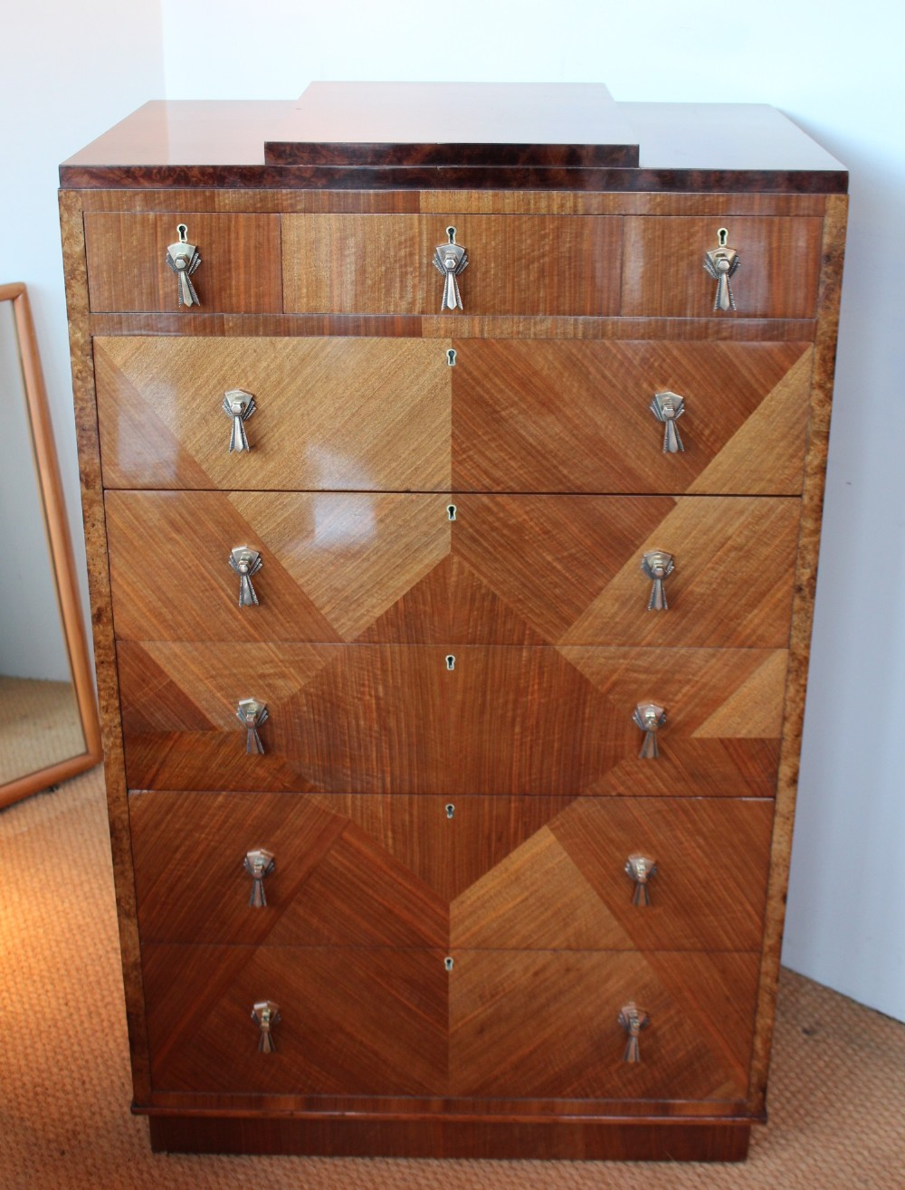 Art Deco Chest Of Drawers Circa