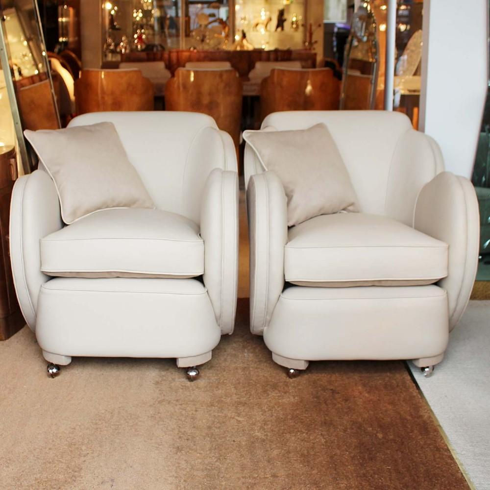 a pair of epstein art deco cloud chairs circa 1930
