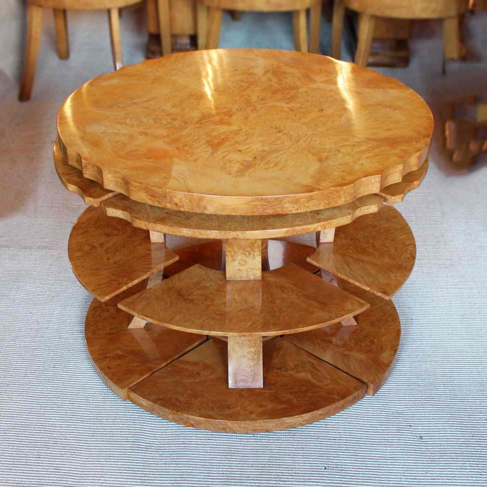 art deco nest of 5 tables