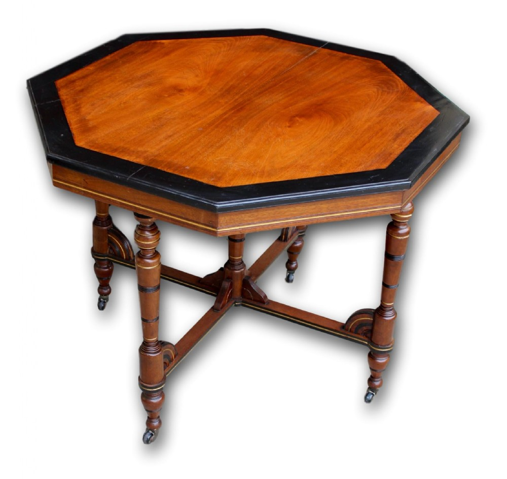 victorian mahogany and ebonised occasional table