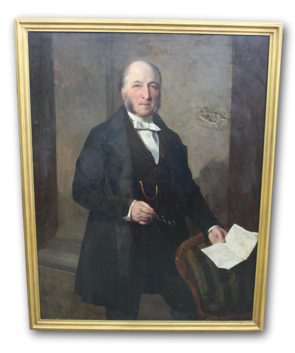 signed dated full length portrait of a gentleman