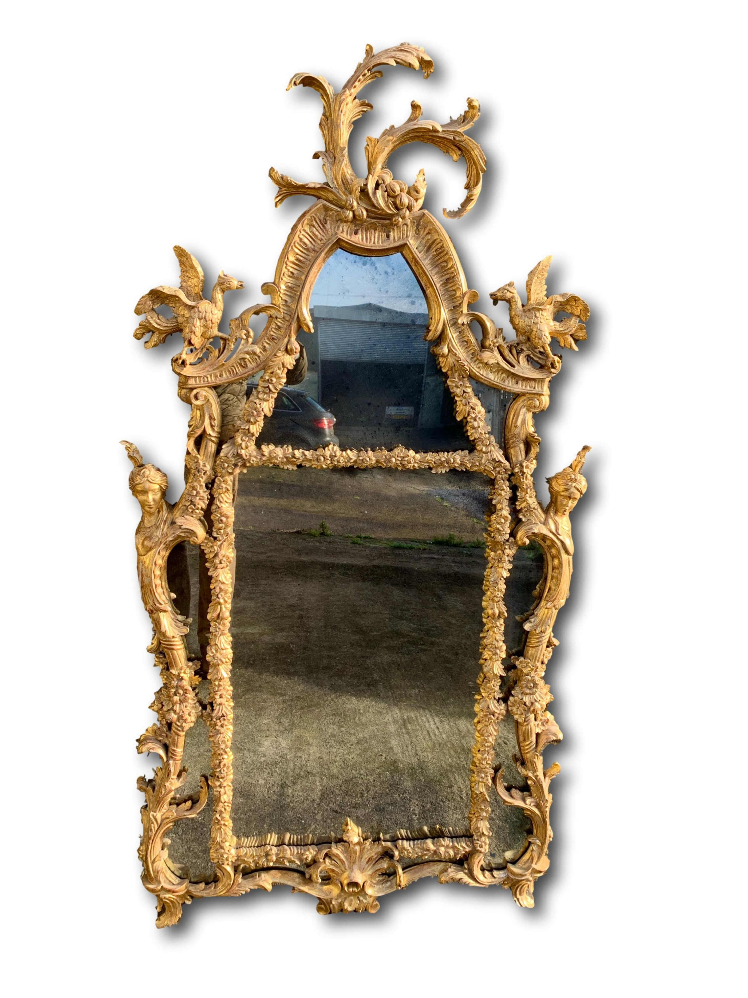 georgian style giltwood mirror