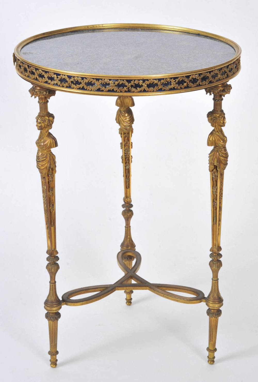 french 19th c round lapis lazuli marble topped table