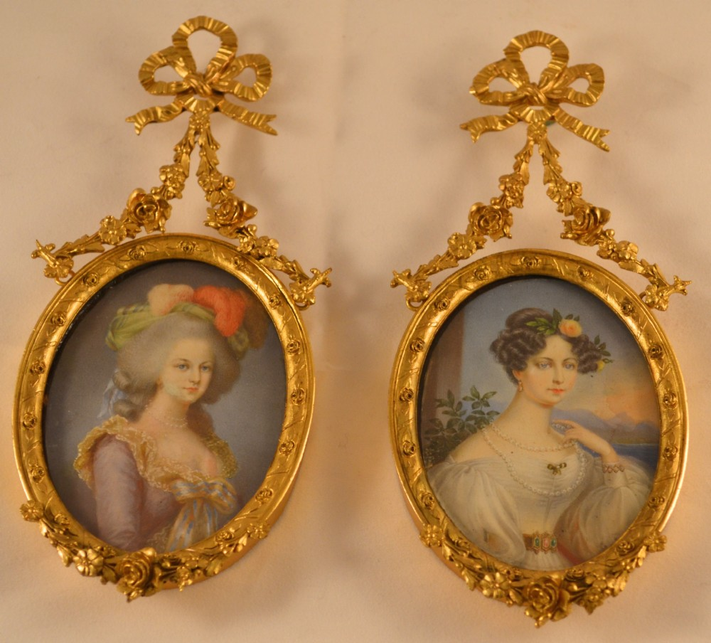 Pair Of French Ormolu Miniature Frames. | 315203 | Sellingantiques.co.uk