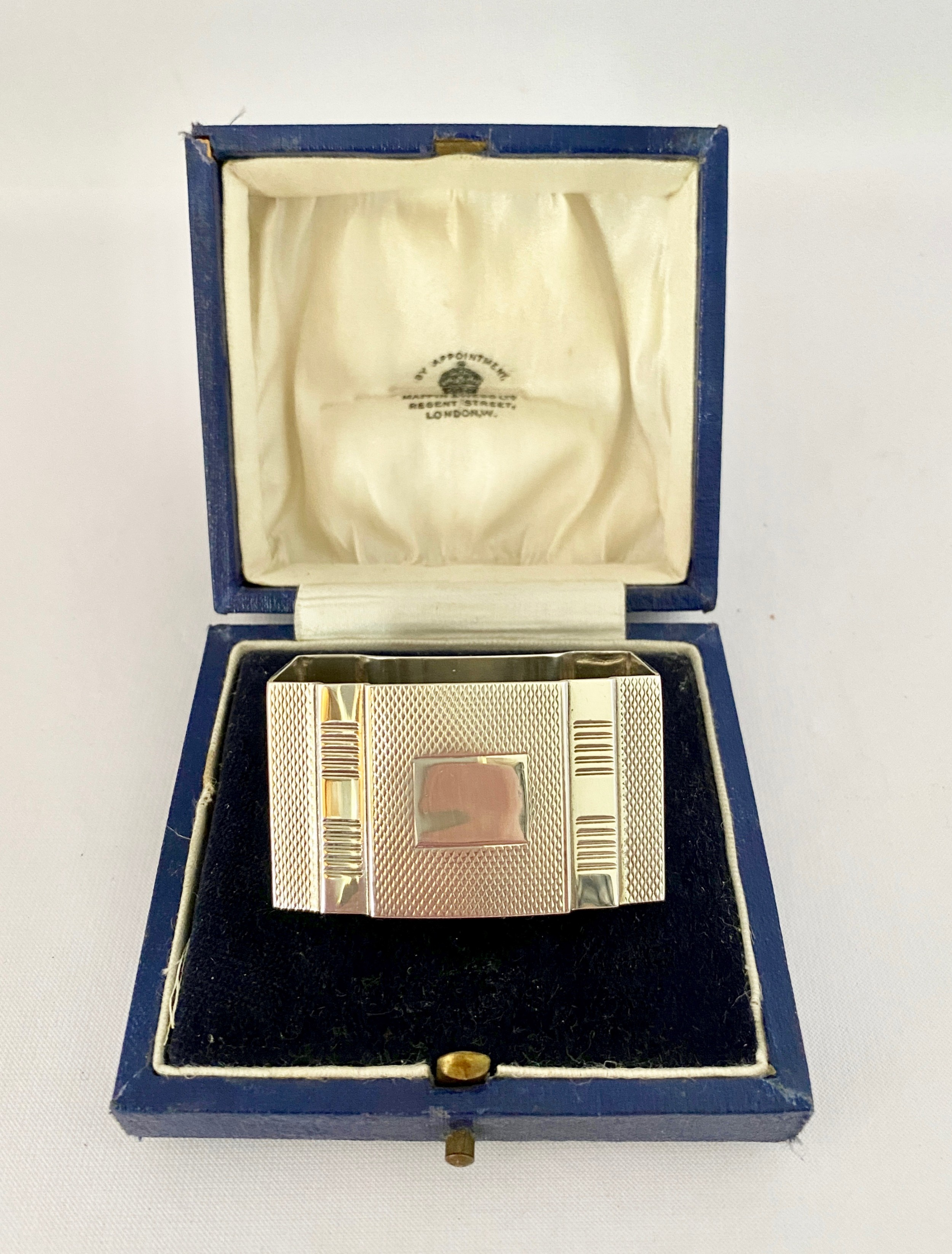 sterling silver art deco napkin ring birm 1935