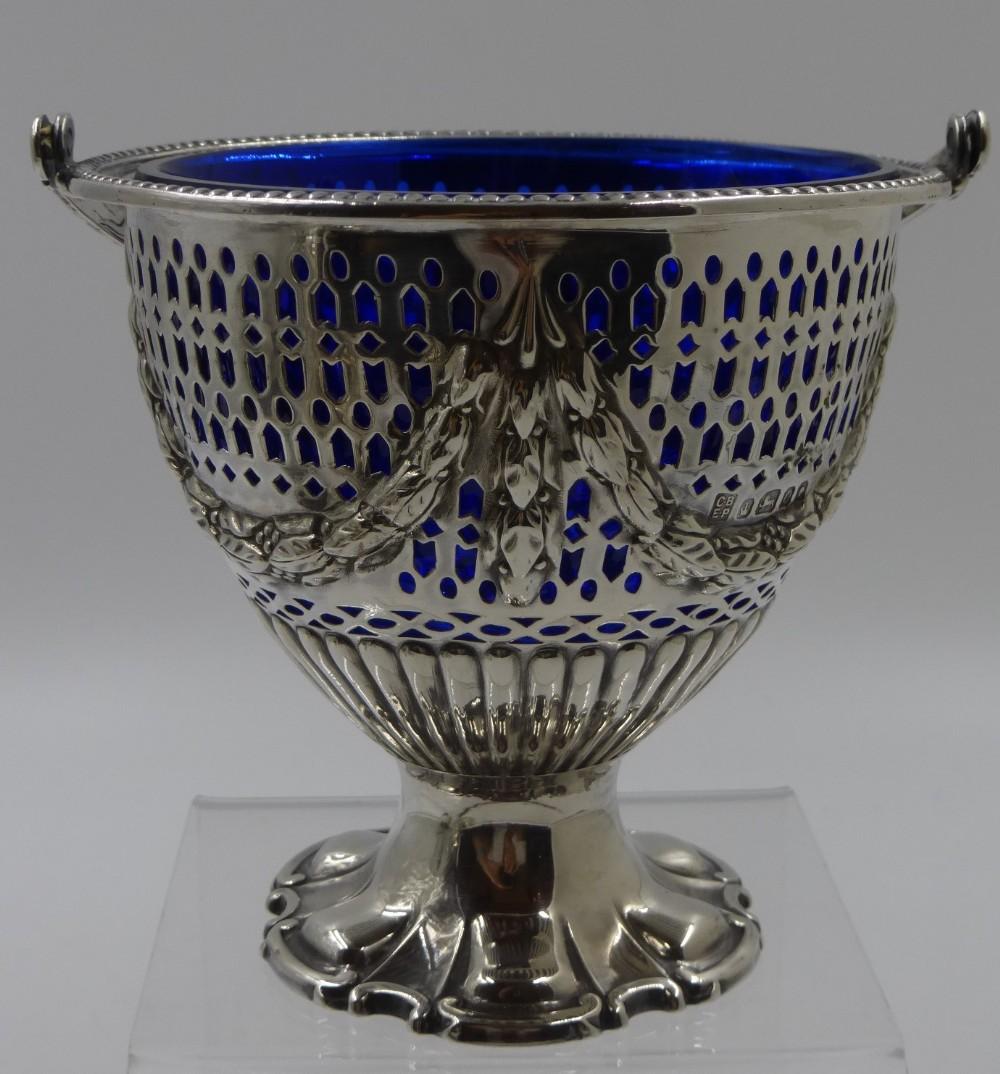 antique victorian sugar basket sheffield 1881