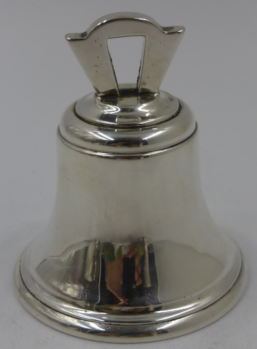 antique silver table bell london 1911