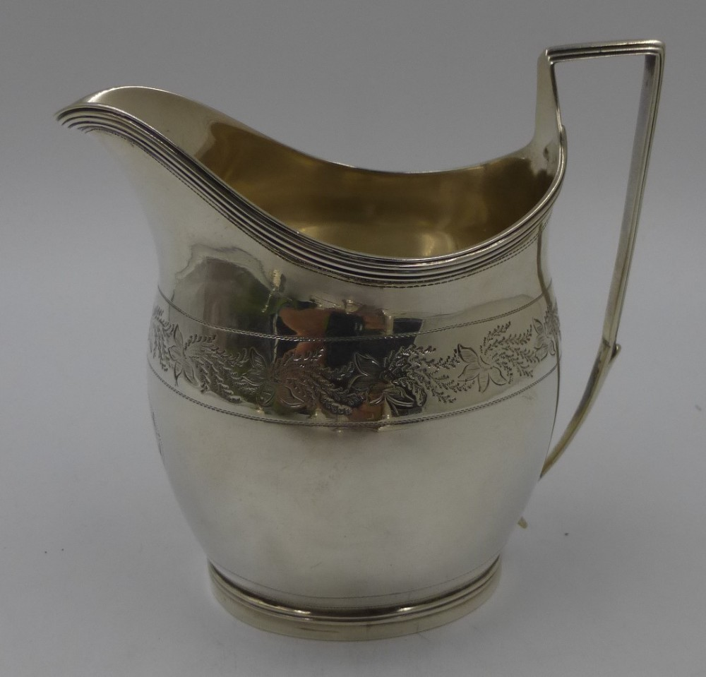 fine quality antique silver george iii cream jug london 1801