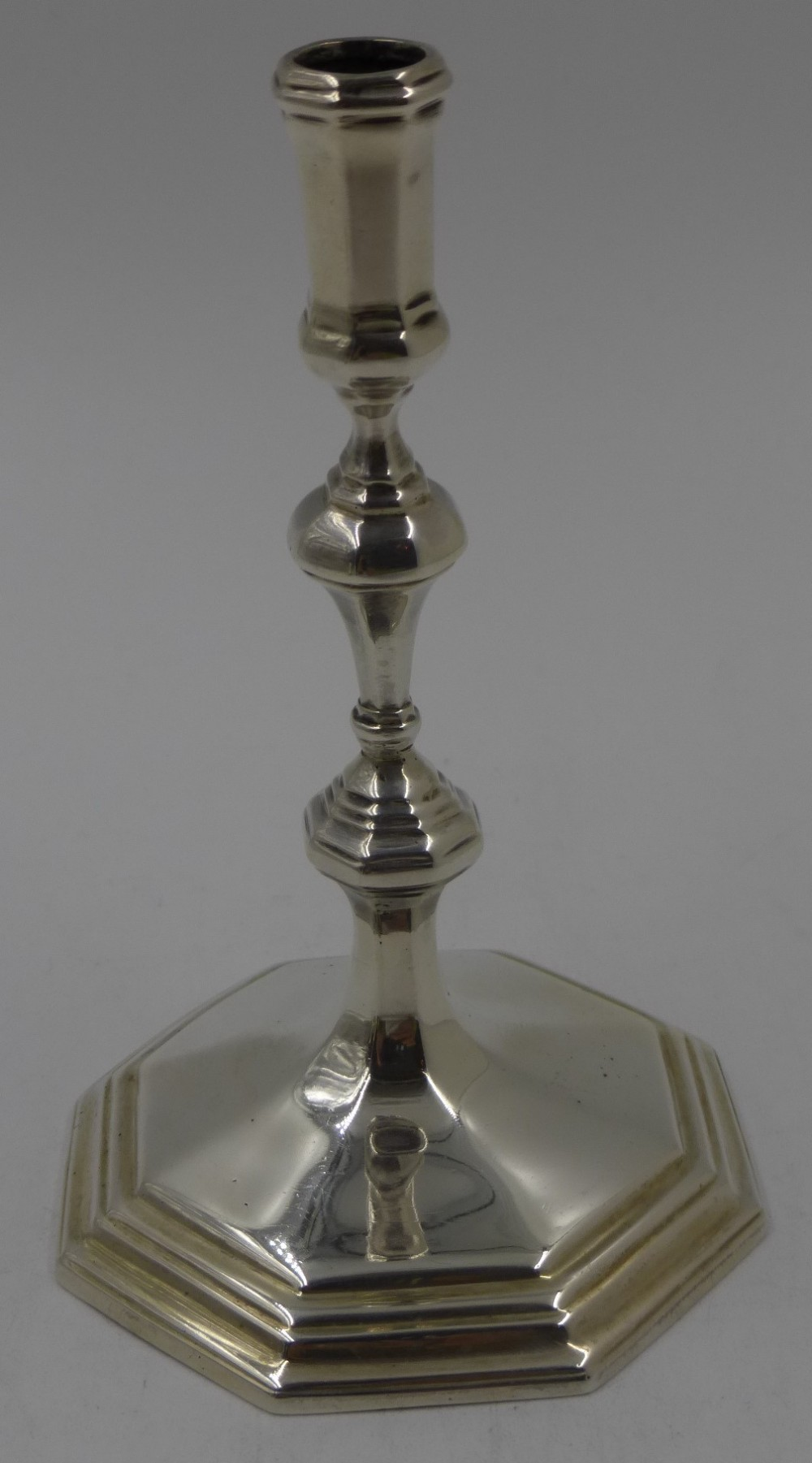 antique silver taperstick london 1902
