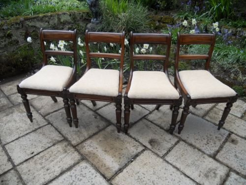 set of 4 regency chairs