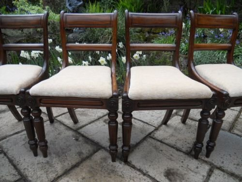 set of 4 regency chairs - photo angle #2